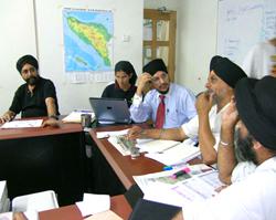Coordinator receives briefing.